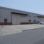 ダイセル化学工場近く、トイレ付の大型倉庫物件。