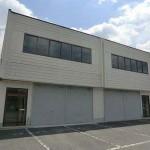 播但線 溝口駅近く、2階建て倉庫付の事務所物件。