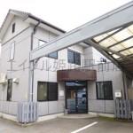 播但線仁豊野駅近く、駐車場付の2階建て事務所物件。