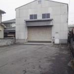 姫路バイパス中地インター北の事務所付倉庫物件。